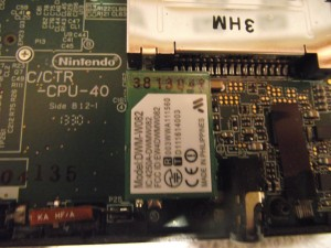 The label on the WiFi daughterboard differs slightly from most models, but the board itself is the same DWM-W082 as all 3DS consoles.