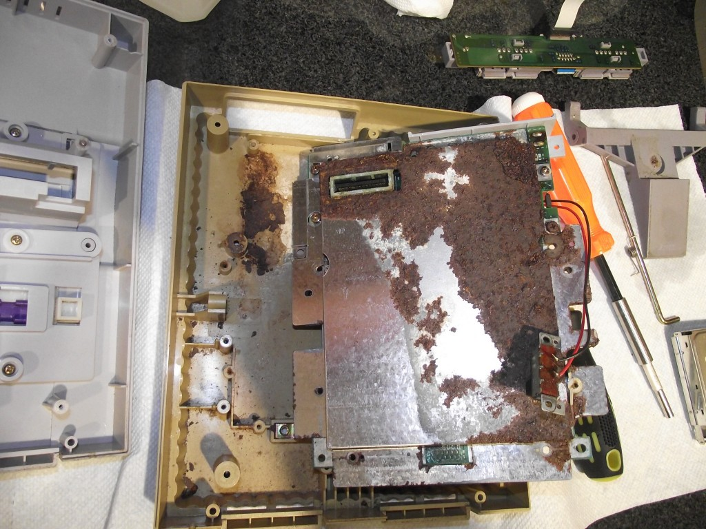 Knowing how gravity works allows you to predict this before you even fully disassemble the console.